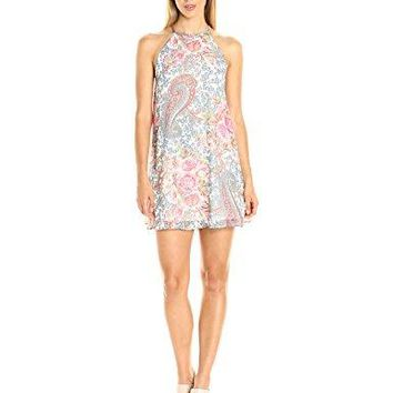 Show Me Your Mumu Women's Gomez Mini Dress, Grey Gardens, S