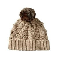 Textural bobble hat