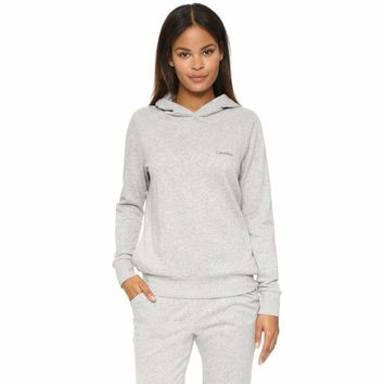 Calvin Klein Evolve Extension Pull Over Hoodie QS5391 Heather Grey XS S L