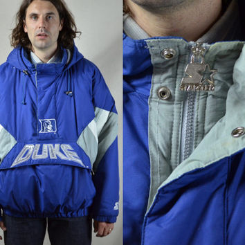 Vintage 90's Classic Starter Duke Blue Devils Pullover Over Hooded Jacket