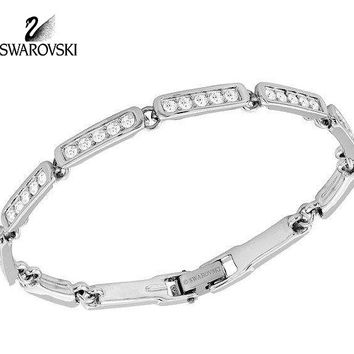 Swarovski Clear Crystal EVERYDAY Bracelet Rhodium Plated #1792298