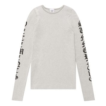 Vetements Women's Oversized Print Top (Grey)