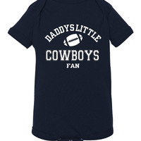 Daddys Little Cowboys Fan Toddler And Youth T-Shirt Dallas Fans Printed Tee for Kids Creepers & T-Shirts. Makes a Great Gift!!