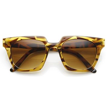 Womens Designer Fashion Horned Rim Indie Sunglasses 8831