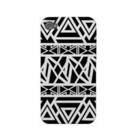 Bold Tribal Black iPhone Case from Zazzle.com