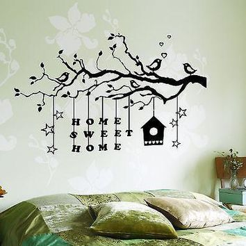Wall Decal Tree Branch Home Sweet Home Vinyl Sticker Unique Gift (z3631)