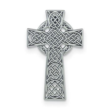 Silver-tone Celtic Cross Wall Plaque