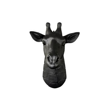The Mini Zimbabwe | Mini Giraffe Head | Faux Taxidermy | Black Resin
