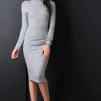 Soft Knit Mock Midi Dress