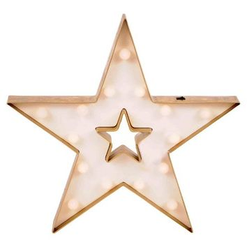 Holiday Lit Star Marquee Sign