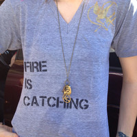 Fire Is Catching T-shirt from Hunger Games/Catching Fire
