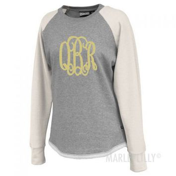 Personalized Raglan Sweatshirt Tunic | Marleylilly