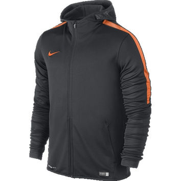 Nike Graphic Knit Full Zip Hoodie Jacket - Anthracite and Orange