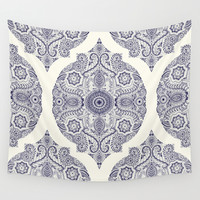 Explorations in Ink & Symmetry Wall Tapestry by Micklyn