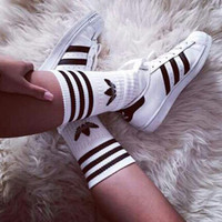 """Adidas"" Girl Fashion Flats Sneakers Sport Shoes Socks"