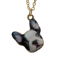 Frenchie Necklace In Black