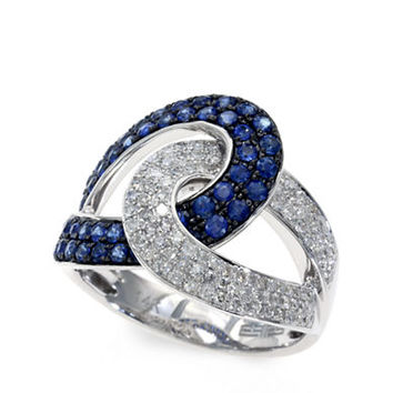 Effy Royale Bleu 14K White Gold Sapphire and Diamond Ring