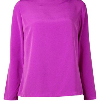 Lauren Ralph Lauren Women's Long Sleeve Boat Neck Blouse