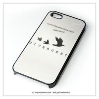 Divergent Tris Tattoo Ravens Quote iPhone 4 4S 5 5S 5C 6 6 Plus , iPod 4 5  , Samsung Galaxy S3 S4 S5 Note 3 Note 4 , and HTC One X M7 M8 Case