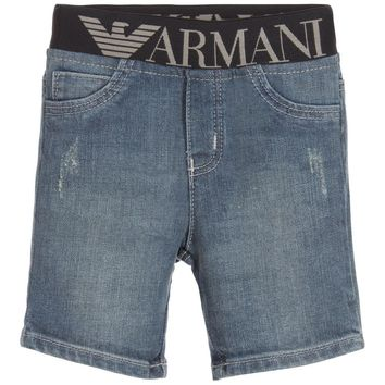 Baby Boys Distressed Denim Waistband Jeans