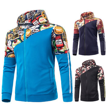 Winter Long Sleeve Hoodies Slim Hats Plus Size Men Men's Fashion Jacket [6528758083]