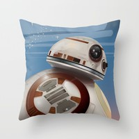BB8 vintage poster Throw Pillow by Nick's Emporium | Society6