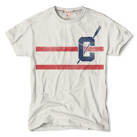 Double Stripe T-Shirt in Vintage White