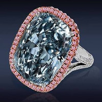 AMAZING 15.15CTW SKYBLUE STUD 925 STERLING SILVER ENGAGEMENT AND WEDDING RING