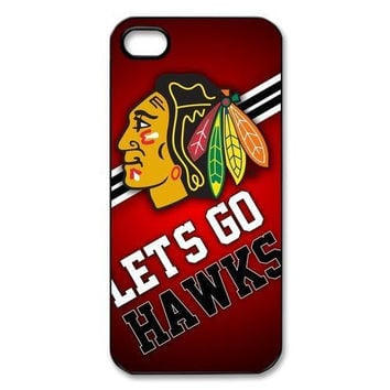 Chicago Blackhawks Pattern Hard Plastic Case for iPhone 4 4s 5 5s 5c 6 6s 6plus 6s plus