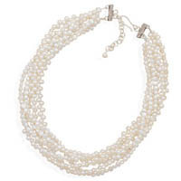 16in x 2in Extension 6 Strand Cultured Freshwater Pearl Necklace