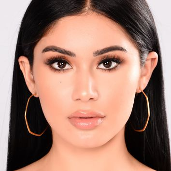 Not Picky Hoop Earrings - Gold