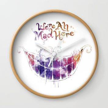 We're All Mad Here Wall Clock by MonnPrint