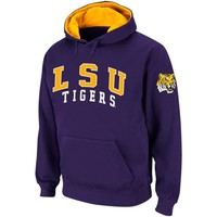 LSU Tigers Double Arches Pullover Hoodie - Purple