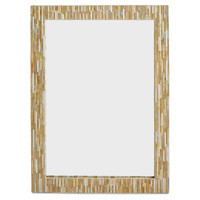 """Mirrors, 38"""" Rectangle Wall Mirror, Gold/Ivory, Wall Mirrors"""