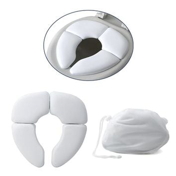 1Pc White Portable Folding Child Baby Toilet Seat Soft Potty Chair Pad Cushion Training