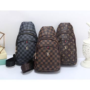 Louis Vuitton LV Newest Popular Women Shopping Bag Leather Purse Waist Bag Single-Shoulder Bag(3-Color) I-MYJSY-BB