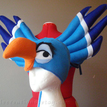 Zazu inspired Hornbill Costume Set. Wings and Hat. Wire Free, Lion King. Original design.