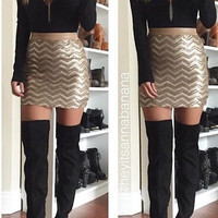 Sequin a Good Time Mini Skirt (PREORDER)