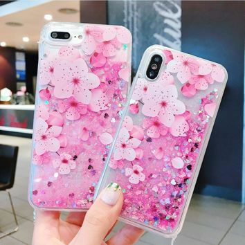 For IPhone 6 6s 7 8 Plus New Cute 3D Plant Flower Peachblossom Anti-knock Phone Case Cover Dallas Cowboys Jersey Purse Fornite