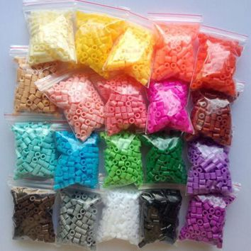 500pcs 2.6mm Mini Hama Beads one Bag Available 100% Quality Guarantee Perler Beads kids toys Activity Fuse Beads