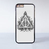 Deathly Hallows Mandala Plastic Case Cover for Apple iPhone 4 4s 5 5s 5c 6 6s Plus