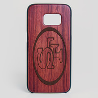 San Francisco 49ers Galaxy S7 Edge Case - All Wood Everything