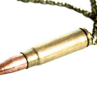 This Means War Necklace - Single Bullet