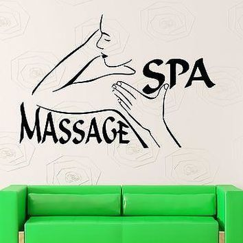Wall Stickers Vinyl Decal Massage Spa Sexy Girl Woman Health Hands Unique Gift (ig1704)