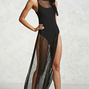Sheer Mesh M-Slit Top