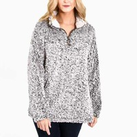 Dylan Frosty Tipped Stadium Pullover for Women in Charcoal 61W40FTP-CHARCOAL