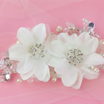 Floral Crystal Hairpiece