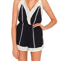 So Fine Romper - Black Lace