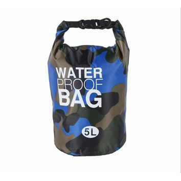 5L Outdoor Waterproof Camouflage Mini Strap Dry Floating Drift fishing Rafting Camping Hiking Swimming Upstream Bucket Bag