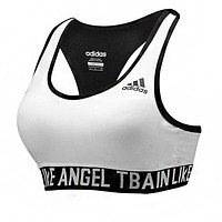 Adidas Fashionable Women Sport Yoga Bra Gym Vest Top White